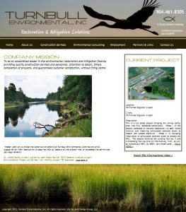 Turnbull Environmental, Inc. website provided by Avid Design Group, LLC of St. Augustine