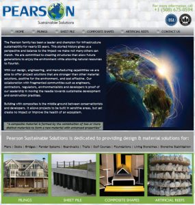 Avid Design Group website design agency st. augustine, Pearson Sustainable Solutions