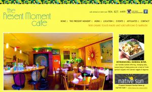 St. Augustine website designers Avid Design Group, The Present Moment Cafe website