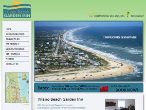 Website design st. augustine, website design north Florida, Vilano Beach Garden Inn