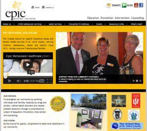 St. Augustine website design, website designed by Avid Design Group, Epic behavioral health