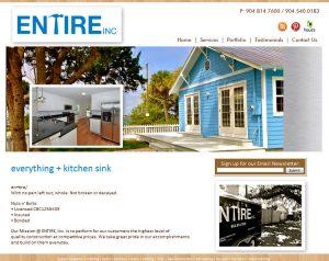 Website design St. Augustine, Website services, Website for Entire, Inc.