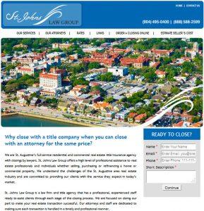 Legal website design, st. augustine website design, St. Johns Law Group title services