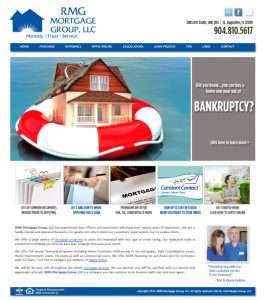 Avid Design Group, RMG Mortgage Group, Mortgage company st. augustine, website design st. augustine, mortgage company website