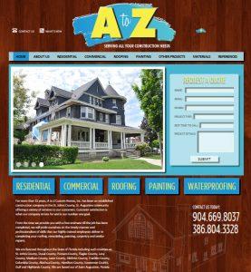 roofers, construction website, website designers for construction companies, st. augsutine website design