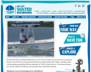 Old City Water Excursions, avid design group, st. augustine website design, website design st. augusitne, st. augustine website designers, graphic design st. augustine, st. augustine graphic design, affordable website design, experienced website designers