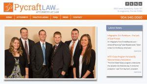 Avid Design Group, Pycraft Law, st. augusitne website design, website design st. augustine, website designers, website design agency, affordable website design, print designers