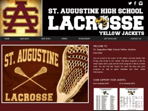St. Augustine High school lacrosse, st. augustine jackets lacrosse, website designers, st. augustine website design, not for profit website designers, affordable website design