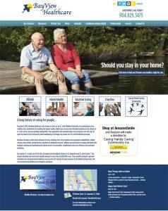 Avid Design Group, Bayview Healthcare, St. Johns Welfare Federation, affordable website design services, st. augustine website design, website design st. augustine, graphic designers, marketing