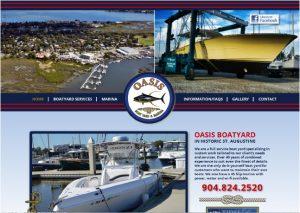Avid Design Group, Oasis Boatyard and Marina, st. augustine website design, website design st. augustine, graphic design, website design, responsive design, webstie designers, affordable website design