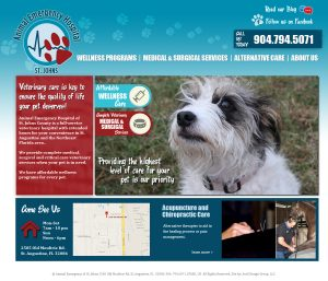 avid design group, st. augustine website design, website design st. augustine, website design jacksonville, jacksonville website design, affordable website designers, web design, web designers, animal emergency hospital of st. johns