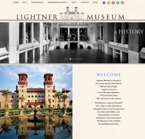 website design, st. augustine website design, graphic design, st. augustine graphic desingers, the lightner musem website, lightner museum, affordable website design, avid design group
