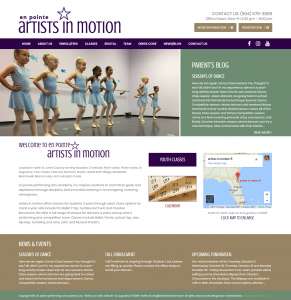 enPoint Artists in Motion, professional website design, website design st. augustine, graphic design st. augustine, Professiona marketing, SEO services