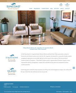 Avid Design Group, Suncoast Beach vacations, website design st. augustine, graphic design, marketing st. augustine, web designers
