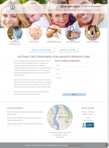 Anastasia Medical Group, Avid Design Group, website design st. augustine, St. Augustine website designers, affordable website design, professional website design
