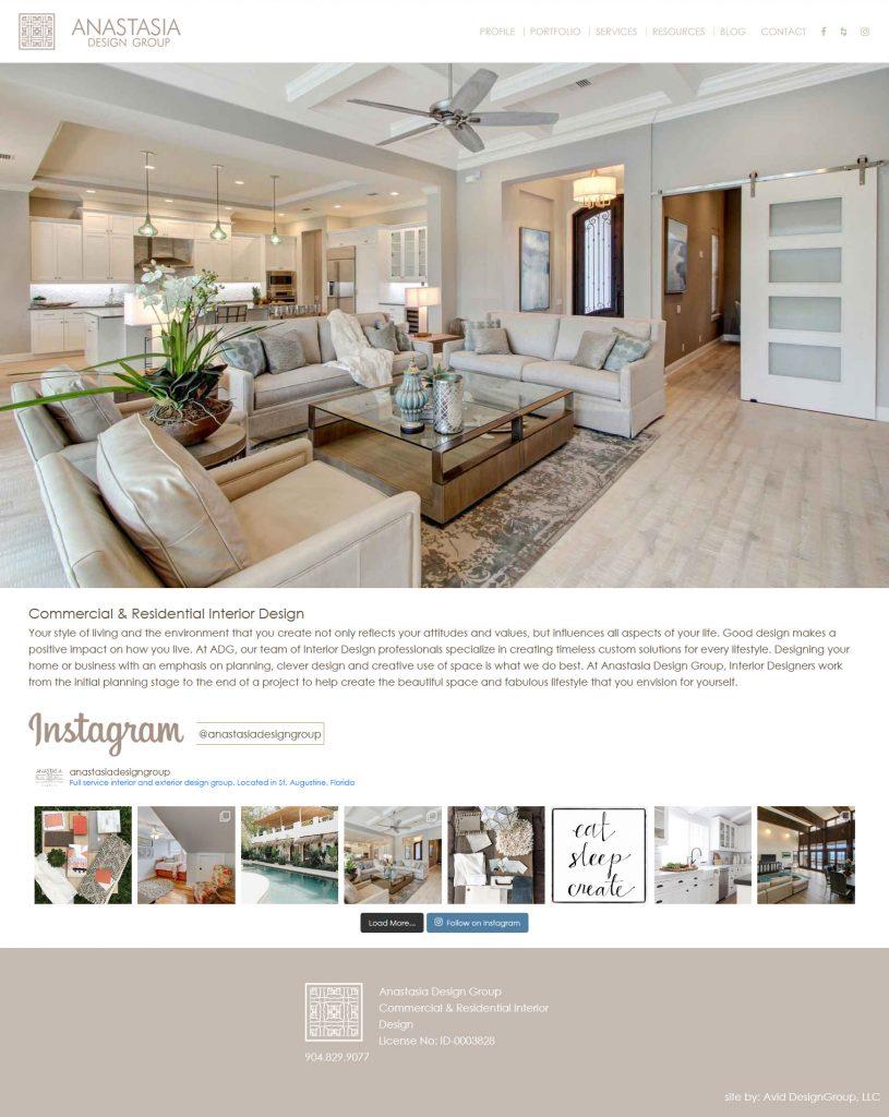 Anastasia Design Group, St. Augustine website design, avid design group, website designers, affordable website design, graphic designers, web design