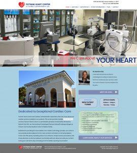 Putnam Heart Center, Mukesh Goel, MD, St. Augustine website design, avid design group, website designers, affordable website design, graphic designers, web design