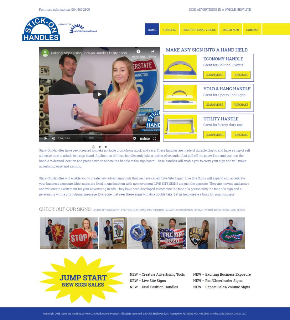 Stick on handles, Avid Design Group, website design St. Augustine, St. Augustine website design, graphic design, affordable website design, professional website design