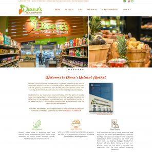 Diane's Natural Market, Avid Design Group, Website design st. Augustine, St. augustine website design, affordable website design, graphic design