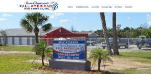 All American Mini Storage St. Augustine Beach, Avid Design Group, St. Agustine website design, website designers St. Augustine, graphic design
