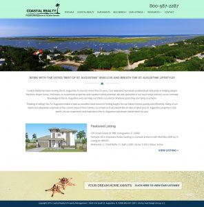 Coastal Realty, Avid Design Group, Affordable website design, St. Augustine Website Design, Website Design St. Augustine, Graphic Design St. Augustine